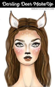 1000+ ideas about Deer Makeup on Pinterest   Deer Costume, Faun ...