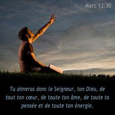 La Bible - Versets illustrées - Marc 12:30 - Tu aimeras donc le Seigneur ton Dieu, de tout ton coeur, de toute ta pensée et de toute ton énergie.