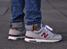 It's hard to pin down exactly when the New Balance 565 debuted, because unlike most of the NB Classics lineup, this model wasn't an OG release. It's more based on the 1985 era that birthed the 670 and influences … Continue reading → Nb Sneakers, Basket Sneakers, New Balance Sneakers, New Balance Shoes, Sneakers Fashion, Burgundy Sneakers, New Balance Men, Me Too Shoes, Men's Shoes
