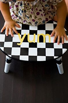 How adorable is this custom step from @Kt Steppers?! Now your little one can help in the kitchen!