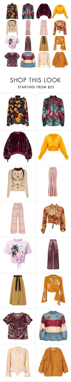 """""""My Fall Finds"""" by decorianbrands on Polyvore featuring Mother of Pearl, Adam Selman, Y/Project, RED Valentino, Topshop, River Island, Miss Selfridge, Temperley London, Hollister Co. and Chloé"""