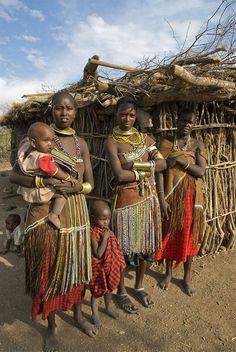 Datoga women . Tanzania