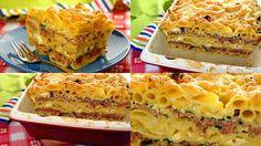 Zapiekanka z makaronem i mięsem. Zapiekanka, to bardzo proste do wykonania danie, tzw. jednogarnkowe, które świetnie się sprawdzi zarówno jako codzienny obiad, ale i na specjalne okazje.