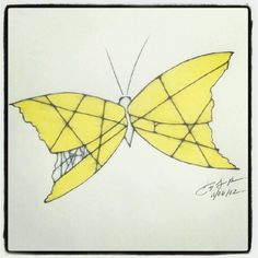 100 Butterflies in 100 Days, Day 37, Medium: Color Pencil