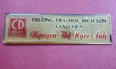 thẻ nhân viên đồng ăn mòn mạ vàng trường tiểu học Bích Sơn