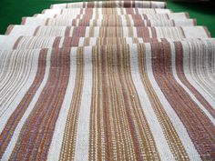 Vintage handwoven linen and cotton table runner / rug by Retroom, $24.00