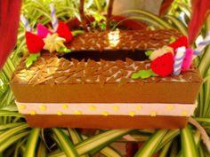 Choco Felt Cake (Tissue Box)