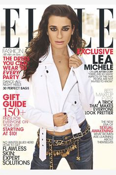 Lea Michele on the cover of Elle talking about life after Cory's death