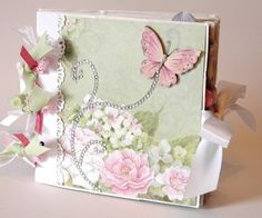 Butterfly Garden Paper Bag Scrapbook Album WHSS TPHH Lisa | eBay
