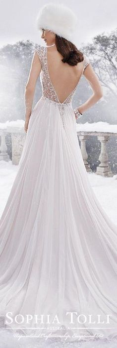The Sophia Tolli Fall 2015 Wedding Dress Collection - Style No. Y21518 www.sophiatolli.com #weddingdresses #weddinggowns by AislingH