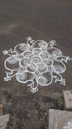 Simple Rangoli Designs Images, Rangoli Designs Flower, Rangoli Border Designs, Rangoli Designs Diwali, Rangoli Designs With Dots, Kolam Rangoli, Beautiful Rangoli Designs, Rangoli Borders, Rangoli Patterns