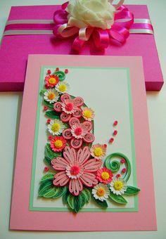 Spring flowers wedding card