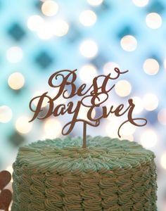 wedding cake, diy wedding topper, deadwood, south dakota wedding  dailyhomemaker.com