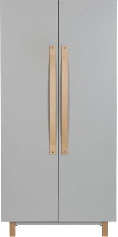Veer grey wardrobe in bedroom furniture | CB2. Also love the coat rack