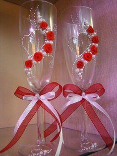 Resultado de imagen de свадебные бокалы