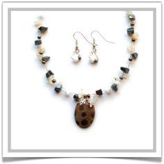 "One-of-a-Kind ""Petoskey"" Jewelry Set - Designed by Belle Bijou:  http://www.bellebijoujewelry.com/store/detail/index.html#cid=48958"