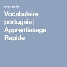 Vocabulaire portugais | Apprentissage Rapide