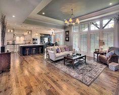 Augusta II Open Floorplan, Living Room, Interior Design Ideas, Home Decor  Hardwood Floor