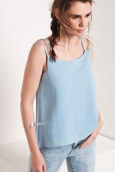 Sateen · Kadın Tekstil  - Mavi Bluz 139-SATEEN241-15181 sadece 29,99TL ile Trendyol da