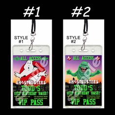 #Ghostbusters Set of 12 #VIP #passes or #party #favors #handmade #thecraftstar $19.99