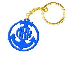 Monogram Acrylic Keychain Anchor Gold Tone Ring ... from 'vitabravo' on Lilyshop for $17.99
