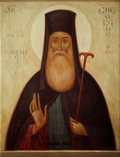 Romanian ___ by Gabriel Toma Chituc, St. Venerable George of Cernica Byzantine Icons, Byzantine Art, Paint Icon, Peter Paul Rubens, Best Icons, Orthodox Icons, Sacred Art, Religious Art, Religious Icons