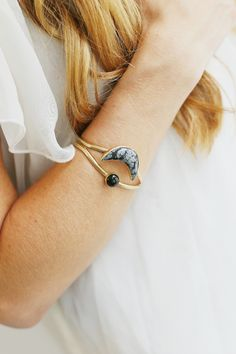 This cuff from Powers is so beautiful! This piece is great at pulling out warmer and softer tones depending on your wardrobe. #mooreaseal