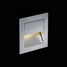 Klassische, Bodennahe LED.next Wandeinbauleuchte Aus Gebürstetem Edelstahl  Zur Bodenbeleuchtung Mit Nur 4 W