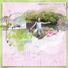 digital layout made by Flor using Oasis collection by Dawn Inskip