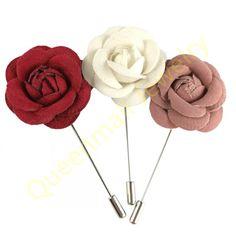 Handmade flower brooch unique wedding jewelry