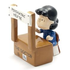 Peanuts Psychiatrist Lucy Salt & Pepper Shakers