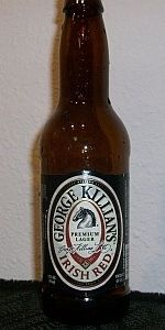 George Killian's Irish Red - Coors Brewing Company Golden, Colorado. 2.75 out of 5 with a BA of 70. American Amber / Red Lager with a 4.90% ABV. Availability: Year-round. My favorite beer!