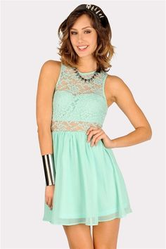 May Lace Dress - Mint-This could be a sexy bridesmaids dress ;) @Shelly Done