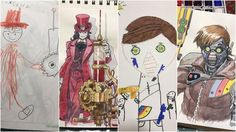 @Thomasintokyo uses his sons drawings as concept designs and creates characters from them