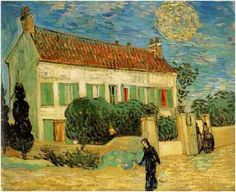 Vincent van Gogh Painting, Oil on Canvas Auvers-sur-Oise: June, 1890 Hermitage Museum St. Petersburg, Russia, Europe F: 766, JH: 2031 Image Only - Van Gogh: White House at Night, T