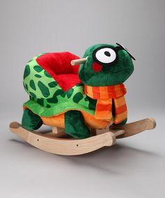 Take a look at this Sheldon Turtle Rocker by Rockabye on #zulily today! I don't know what's cooler...the fact that it's a stuffed turtle rocker, or that the turtle is wearing glasses and a scarf!