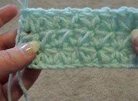 snowflake crochet blanket.
