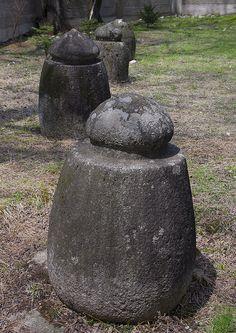 Funerary jars in Pohyon temple,mounts Myohyang, North Korea