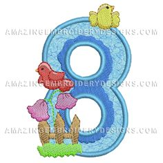 Free Embroidery Design: Number 8
