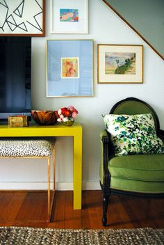 Furniture Makeovers: Pop of Yellow Table