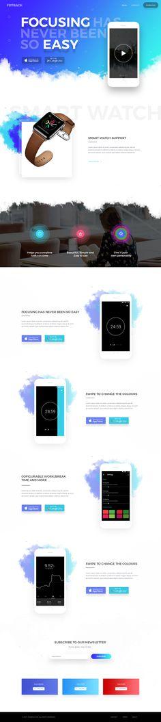 Mobile app landing page 4