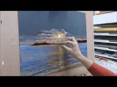 speed painting, démonstration paysage au pastel par Nathalie JAGUIN pastelliste - YouTube