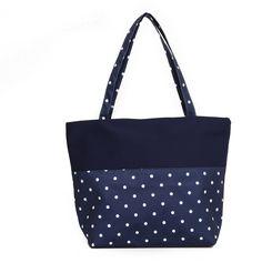 Dot Printed Dots, Reusable Tote Bags, Printed, Beach, Stitches, The Beach, Prints, Beaches