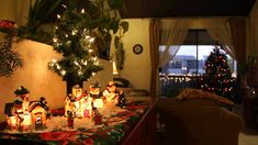 love Christmas snow photography holiday lights tree photograph picture cinemagraph family seasonal presents warmth moving village decorations