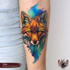 Fox tattoo on forearm new school by Natasha Semenova 22 Tattoo, Tattoo Drawings, Body Art Tattoos, Sleeve Tattoos, Fox Tattoo Men, Raven Tattoo, Samoan Tattoo, Polynesian Tattoos, Hand Tattoos