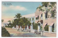 inverurie bermuda hotel | Description: The Inverurie Hotel Paget Bermuda 1945 linen postcard