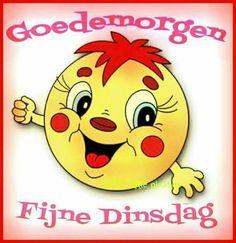Fijne dinsdag Smileys, Emoticon, Emoji, Daddy's Angel, Dutch Quotes, Good Morning Quotes, Pikachu, Humor, Funny