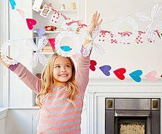 Sweet Valentine's Day Crafts for Kids: Valentine's Garlands (via FamilyFun magazine)