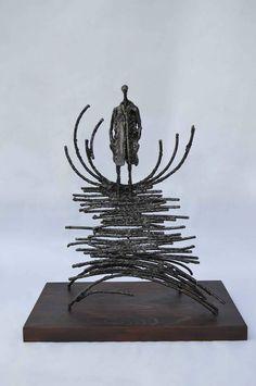 Jártam a Vízen, de Nem Látta Senki / I Walked on Water but Nobody Saw It  2013 vas,fa/ iron,wood  Molnár Levente Szobrász/Sculptor http://www.molnarlevente.com