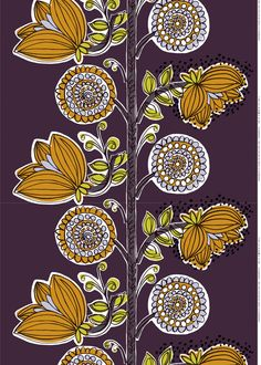 Marimekko Designs by Erja Hirvi Textiles, Textile Prints, Textile Patterns, Design Textile, Fabric Design, Print Design, Marimekko Fabric, Stoff Design, Surface Pattern Design